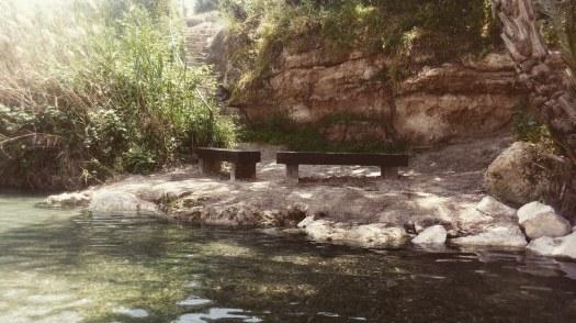 פינת ישיבה למרגלות הסחנה- גן לאומי גן השלושה