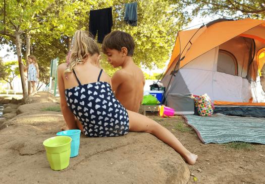 ילדים נהנים בגן הלאומי חורשת טל