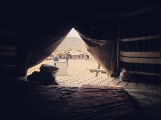 מבט מתוך טוקול- אוהל אתיופי. גן לאומי ממשית, ליד עין ירקעם