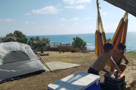 מתחם האוהלים. אכזיב